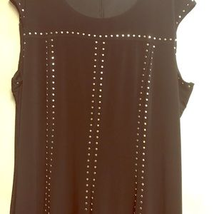 Calvin Klein lined black dress with embellishment